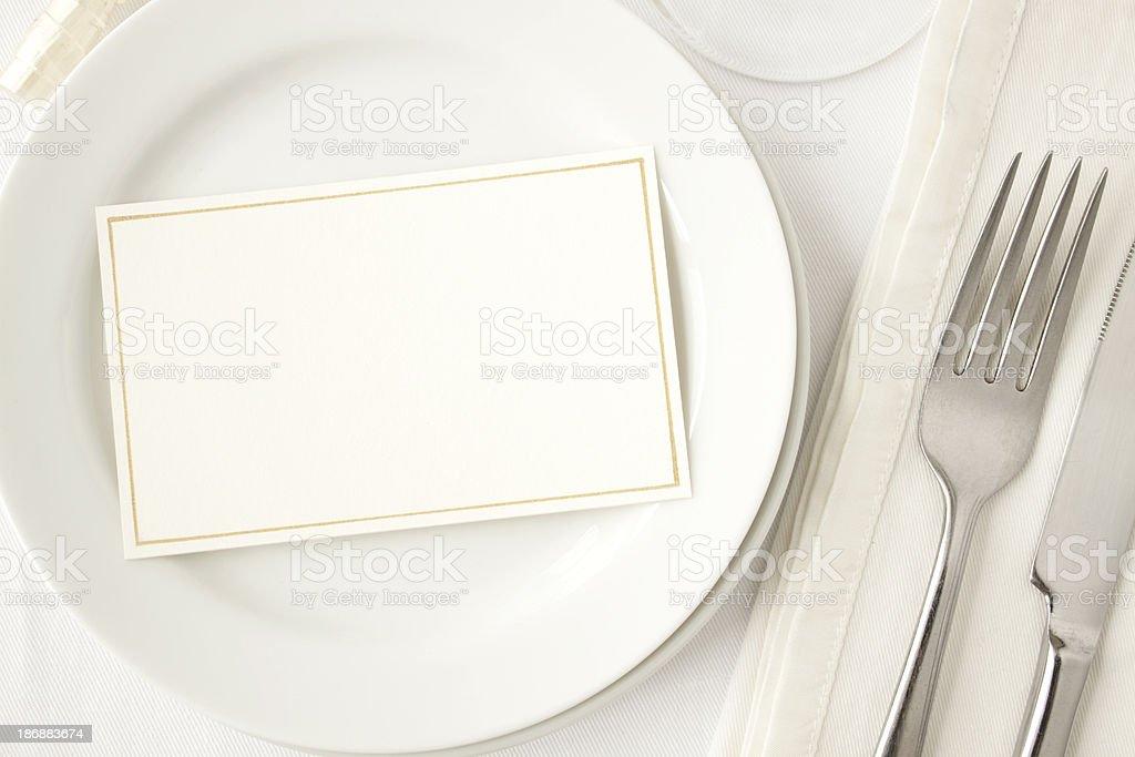 Elegant Dining. royalty-free stock photo