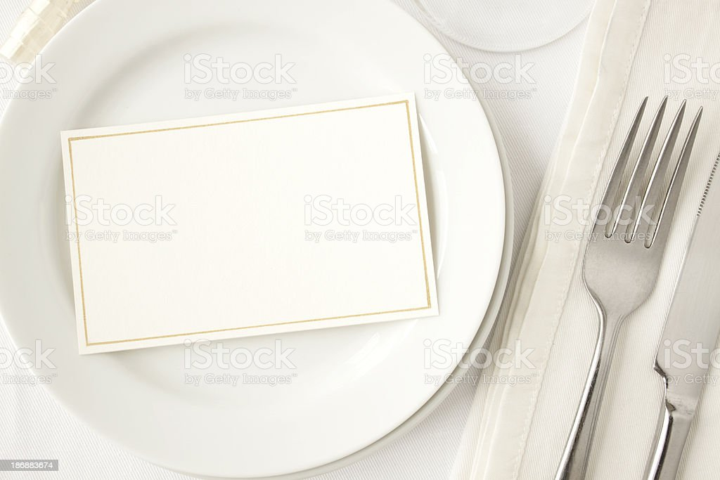 Elegant Dining. stock photo