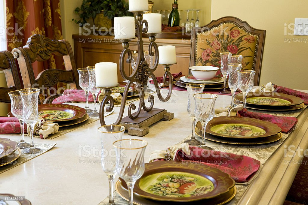 Elegant Dining Room royalty-free stock photo