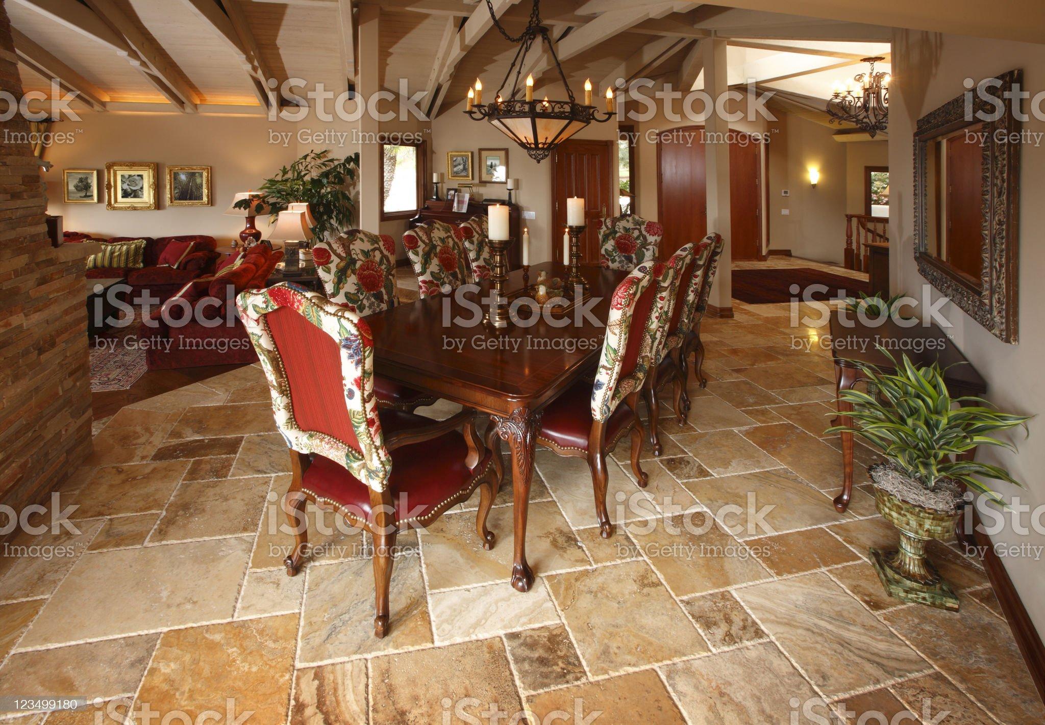 Elegant Dining Room Table royalty-free stock photo