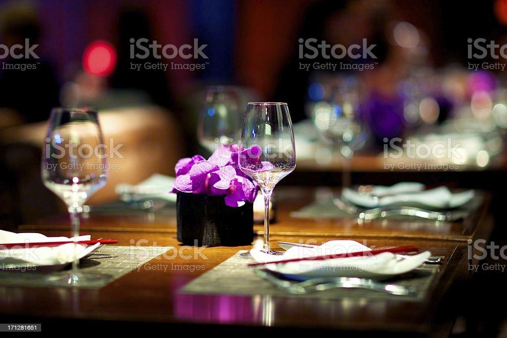 Elegant Dining Set stock photo
