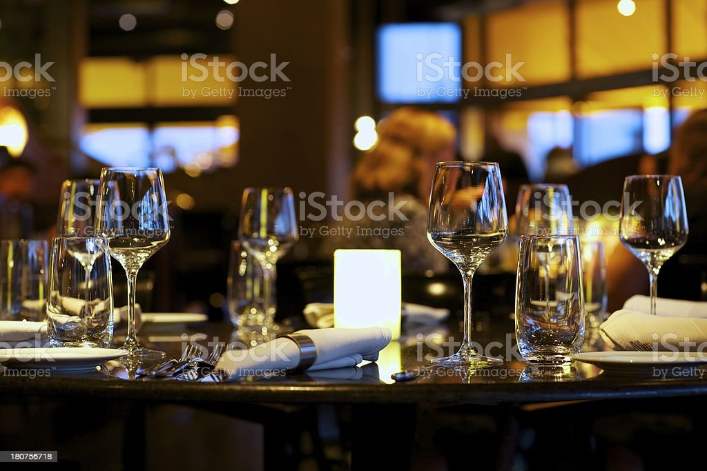 Elegant Dining Table royalty-free stock photo