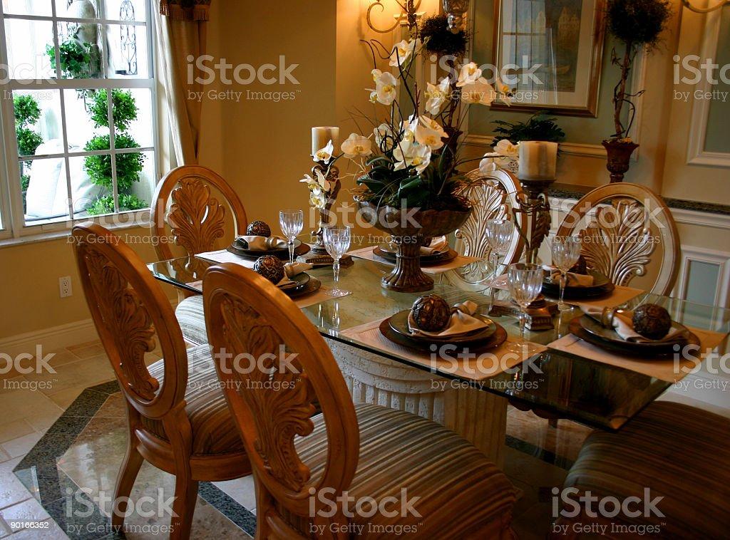 Elegant Dining Table royalty-free stock photo