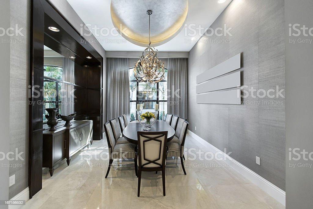 Elegant Diningroom house interior royalty-free stock photo