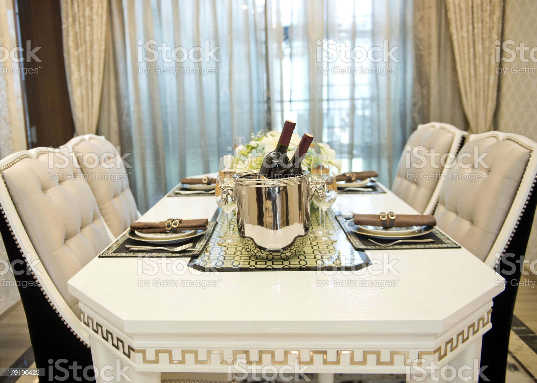 elegant dinner royalty-free stock photo
