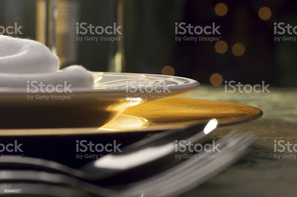 Elegant Dinner Setting royalty-free stock photo