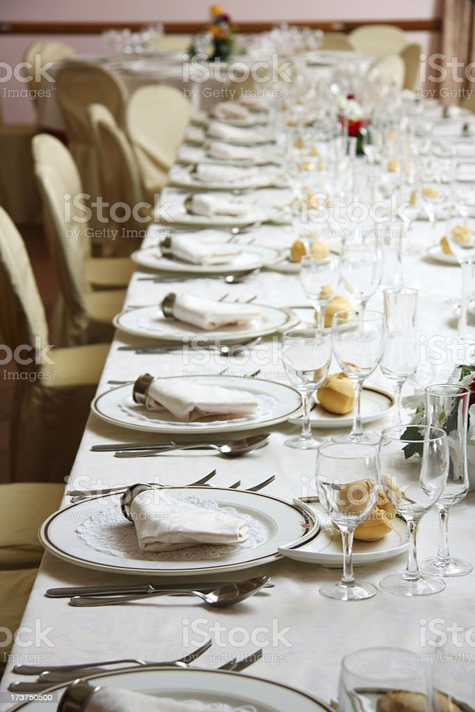 Elegant dinner table royalty-free stock photo