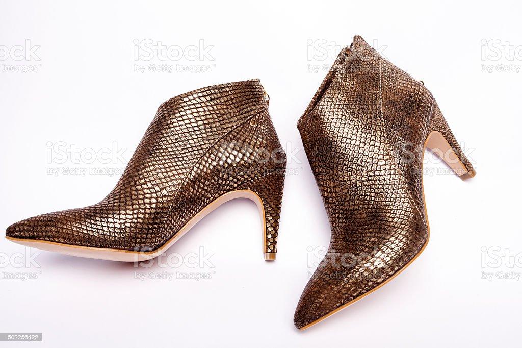 Elegant dress shoes stock photo