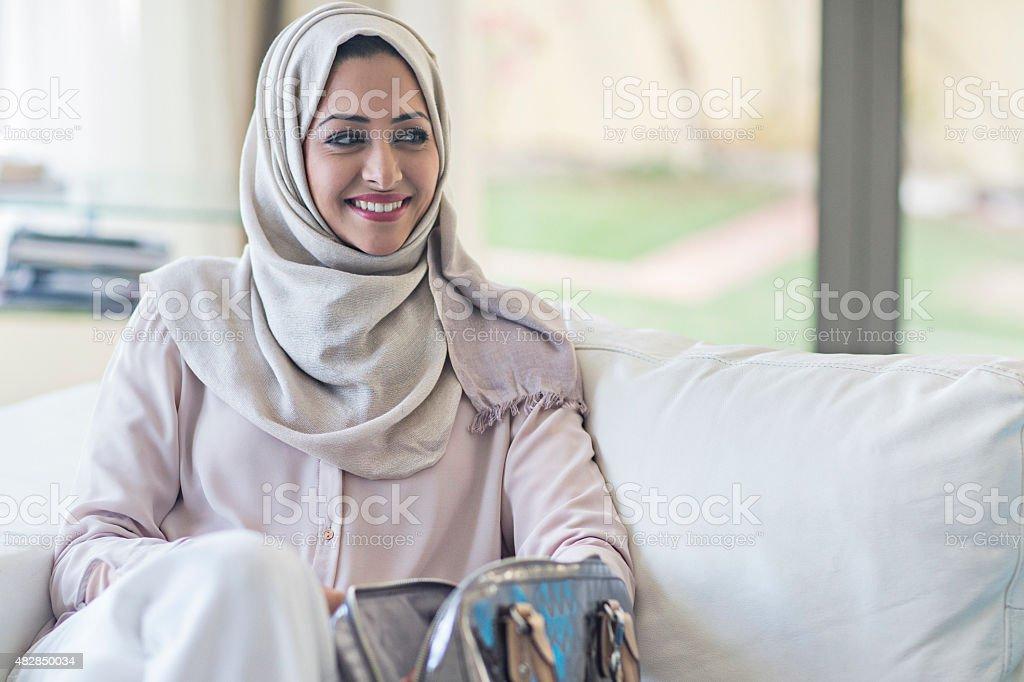 Elegant Emirati woman stock photo