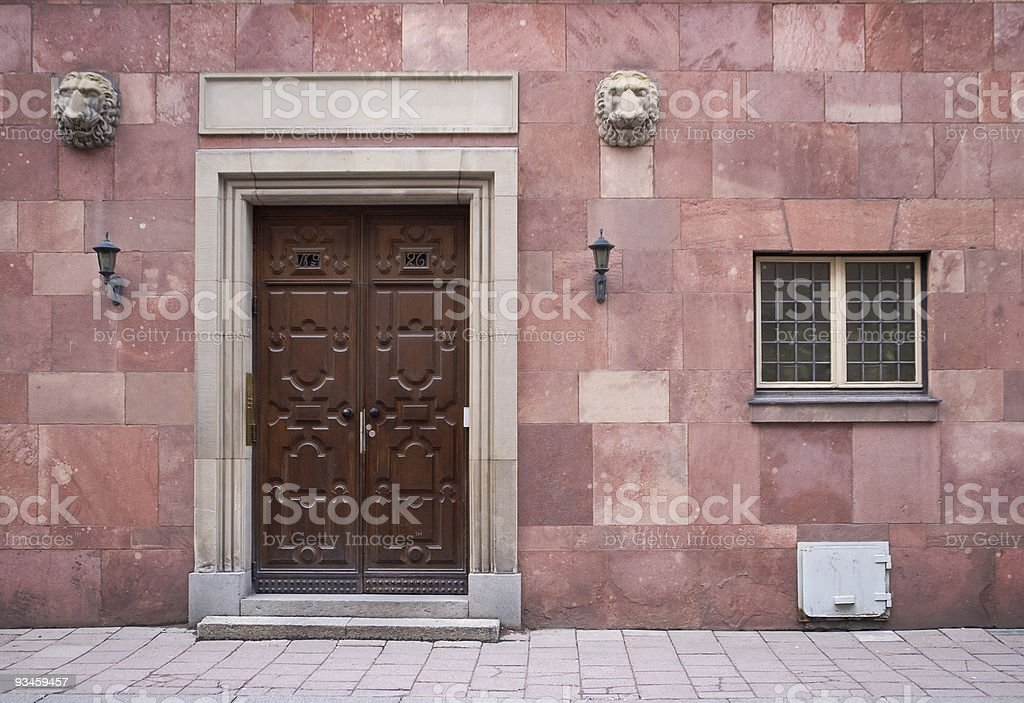 Elegant entrance royalty-free stock photo