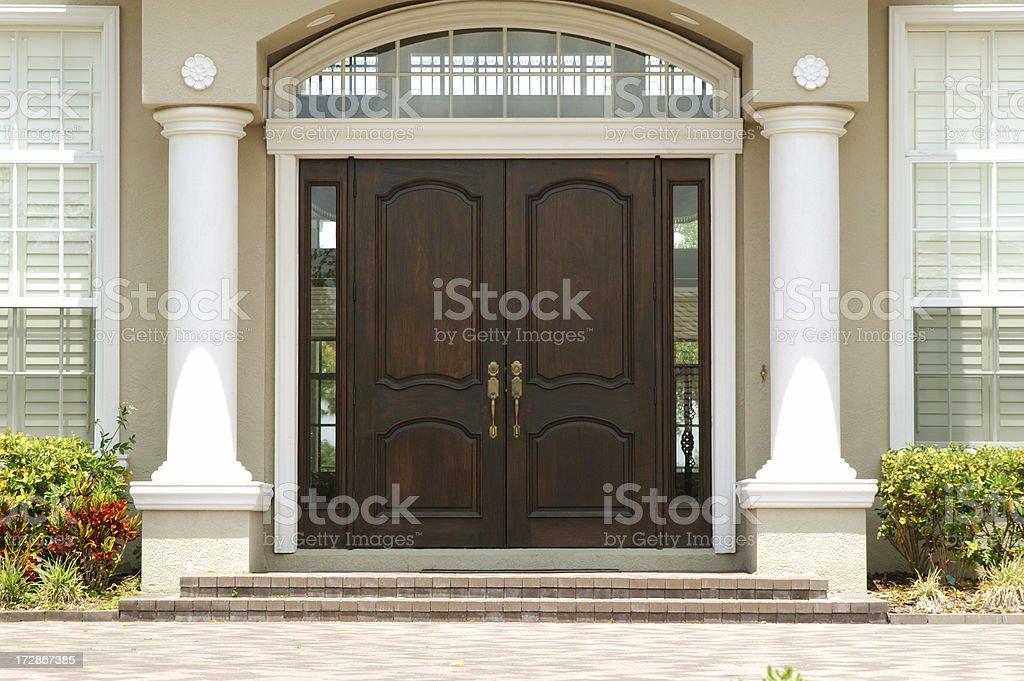 Elegant Entry to Luxury Home stock photo