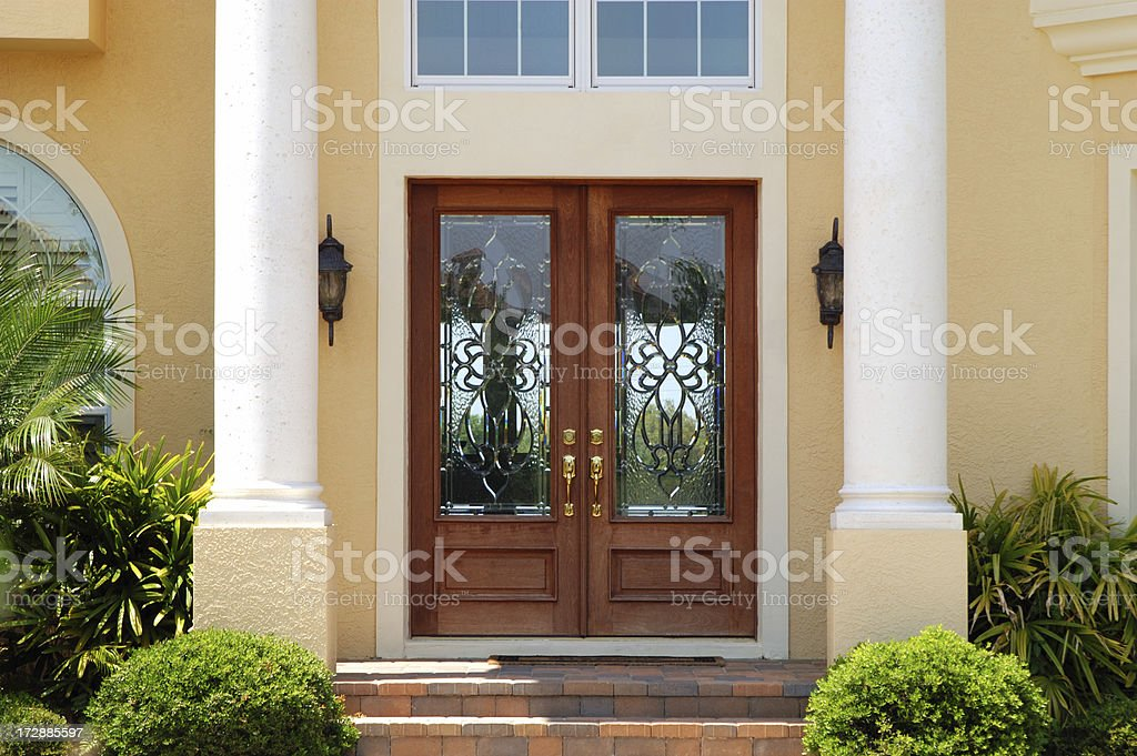 Elegant Entry to Luxury Home royalty-free stock photo