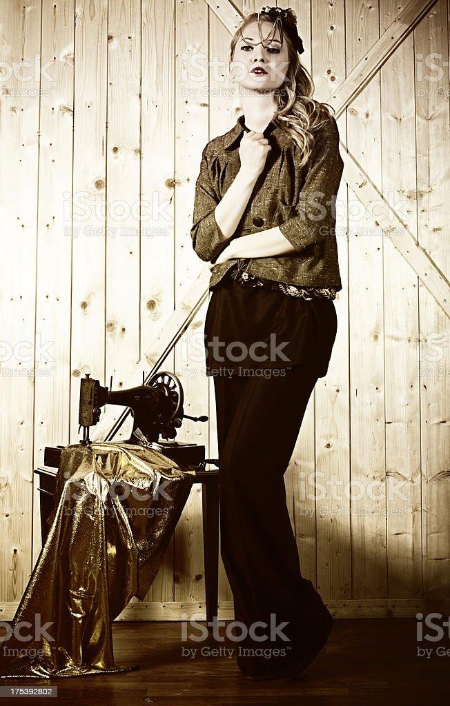 Elegant Fashion Model royalty-free stock photo