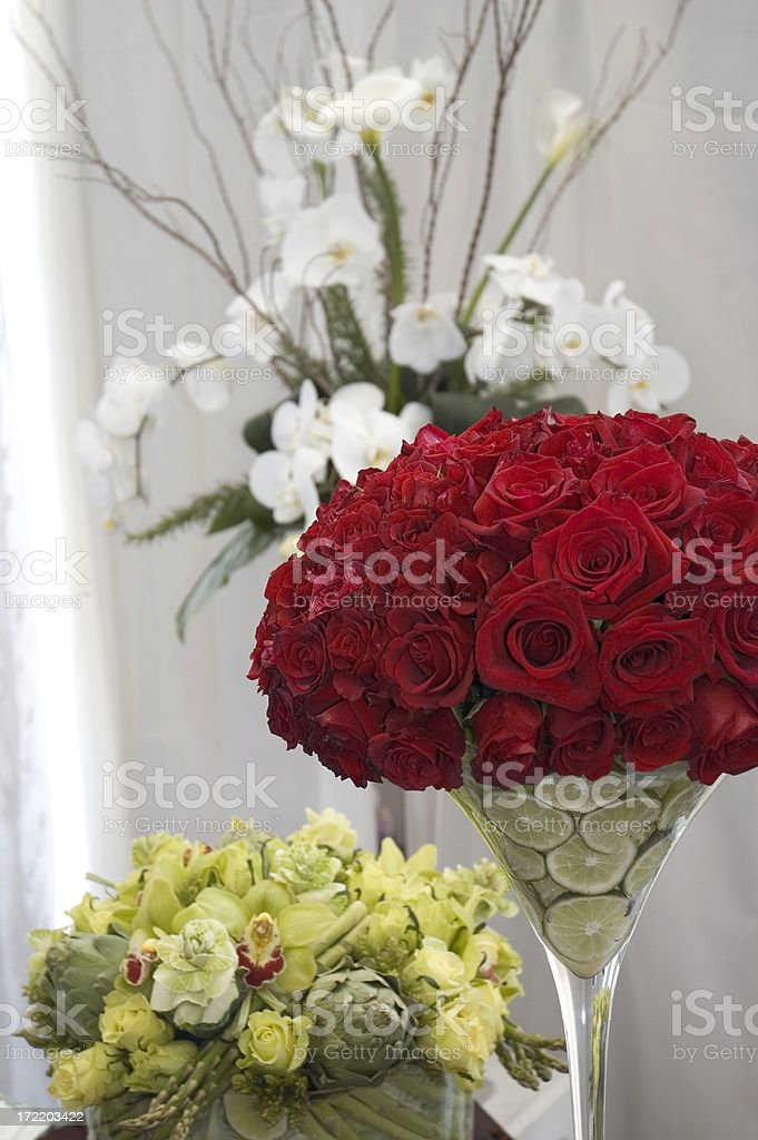 Elegant Flower Arrangments stock photo