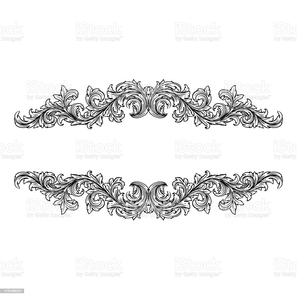 Elegant frame banner royalty-free stock photo