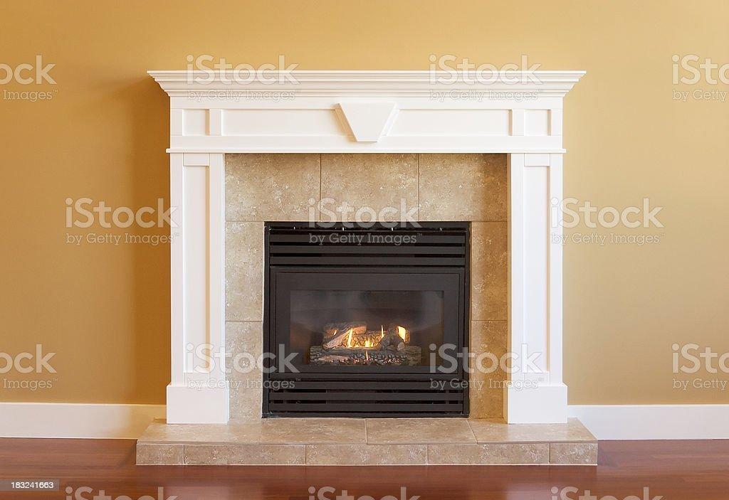 Elegant Gas Fireplace stock photo