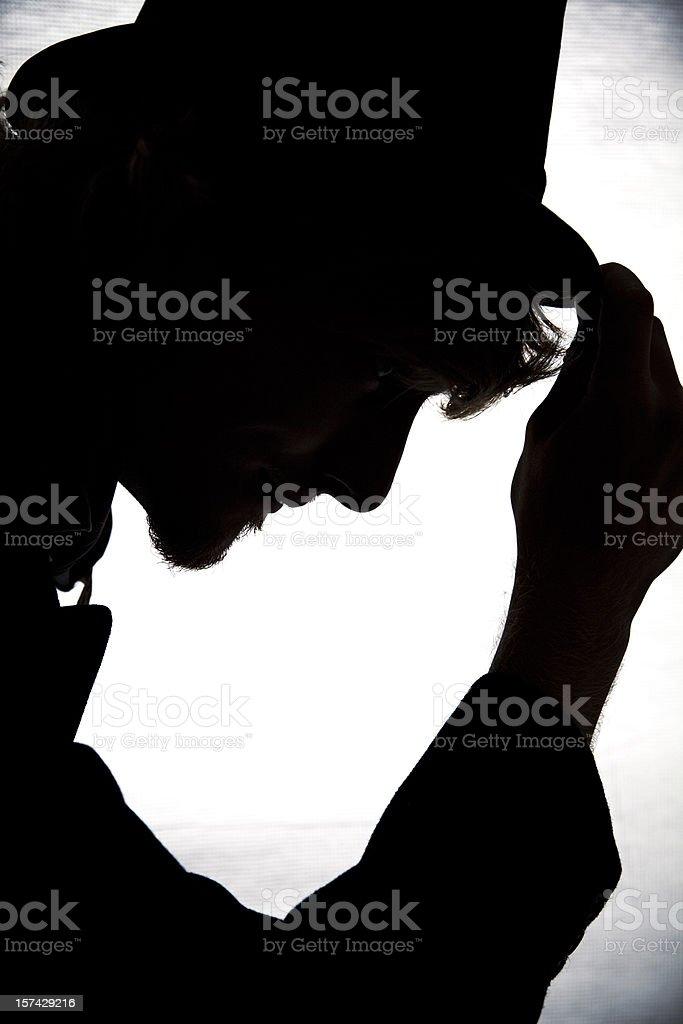 Elegant Gentleman Silhouette stock photo