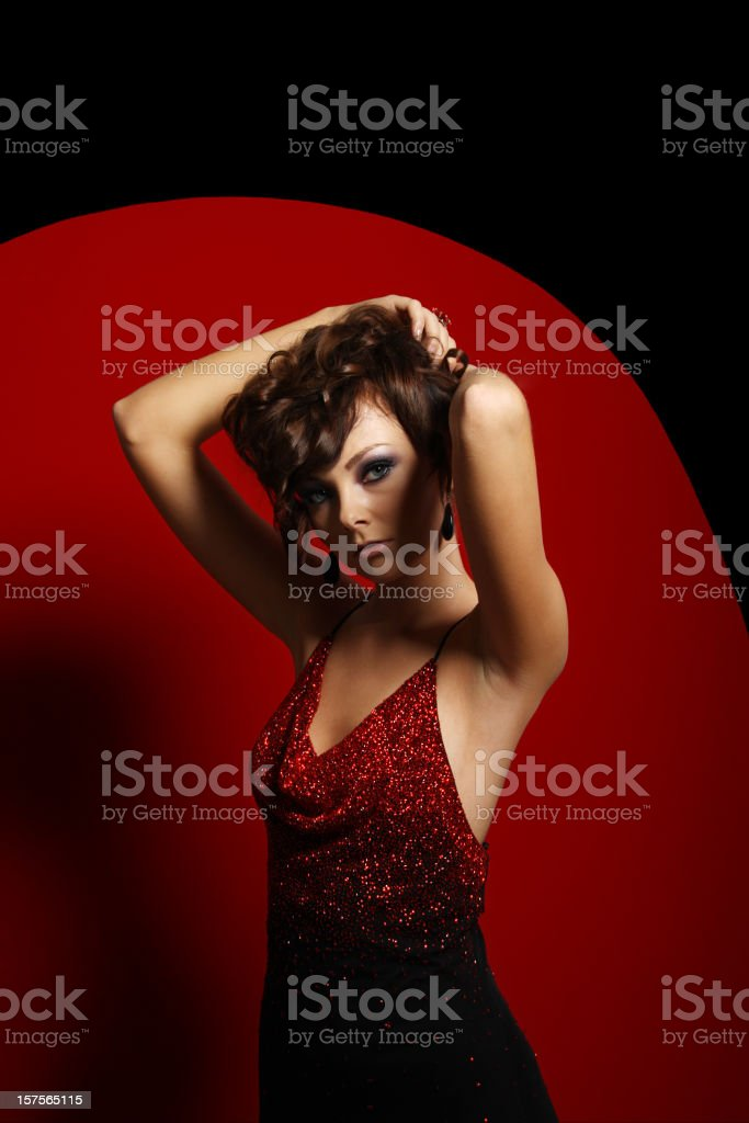 Elegant girl stock photo