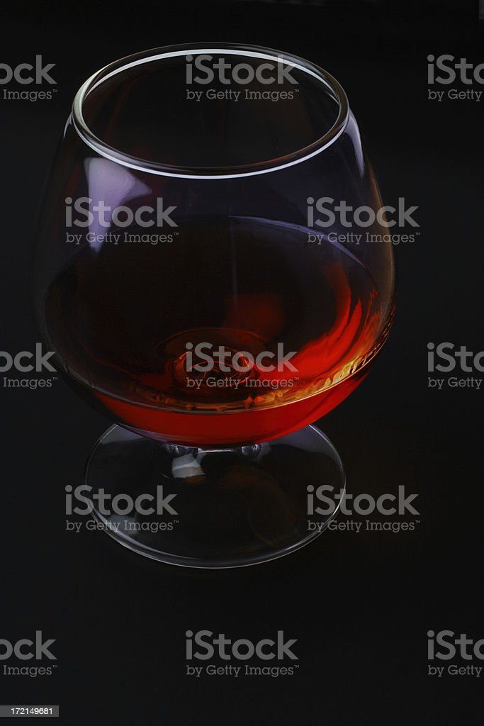 Elegant Glass Of Spirits stock photo