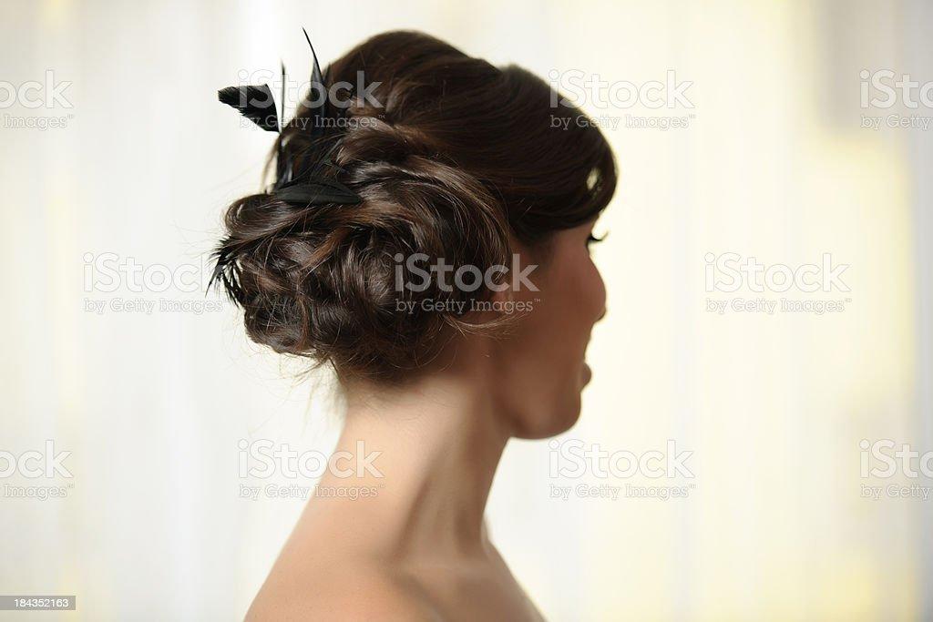 elegant hairstyle royalty-free stock photo