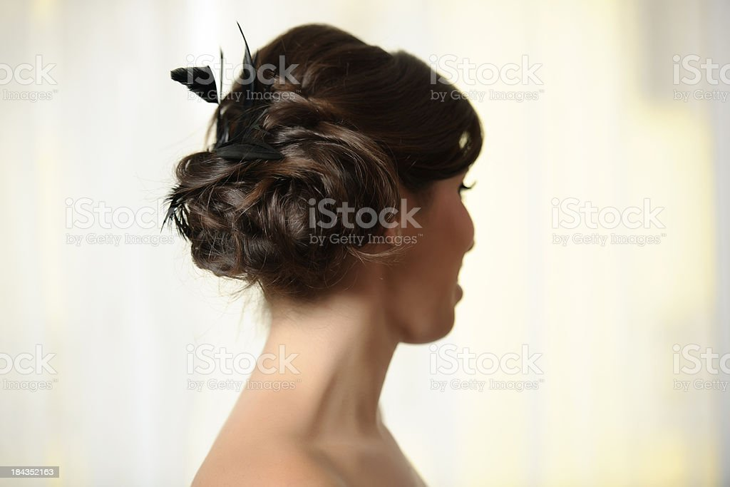 elegant hairstyle stock photo
