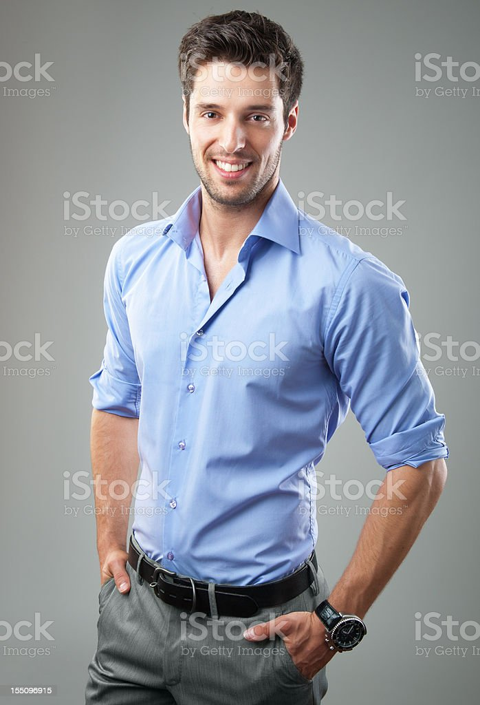 elegant handsome man royalty-free stock photo