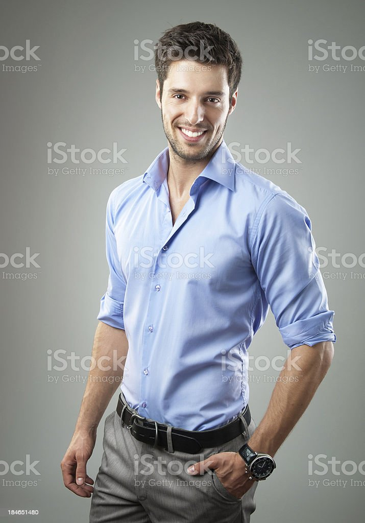 elegant handsome man stock photo