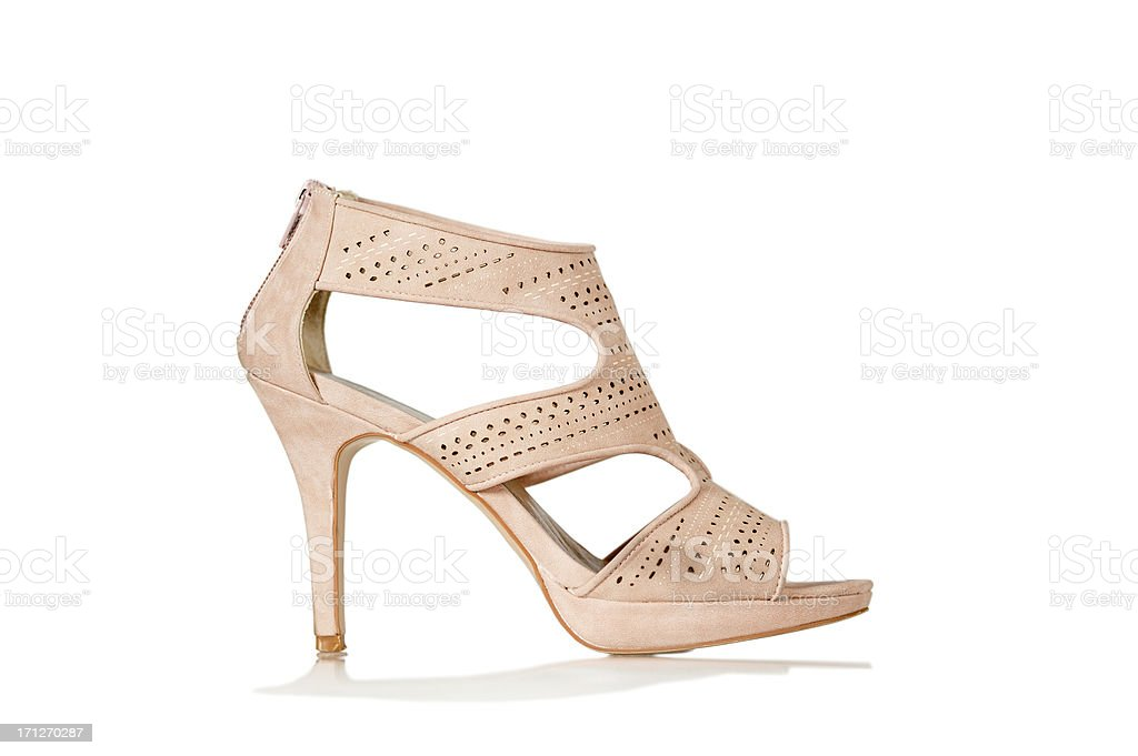 Elegant High Heels sandals in nude color stock photo
