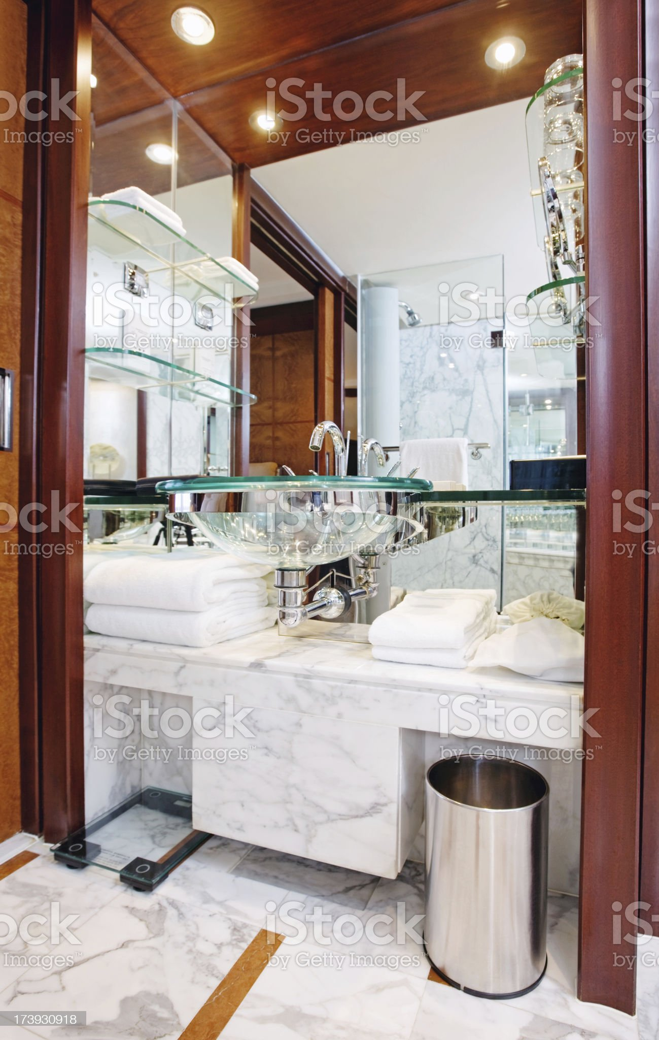 elegant hotel bathroom royalty-free stock photo