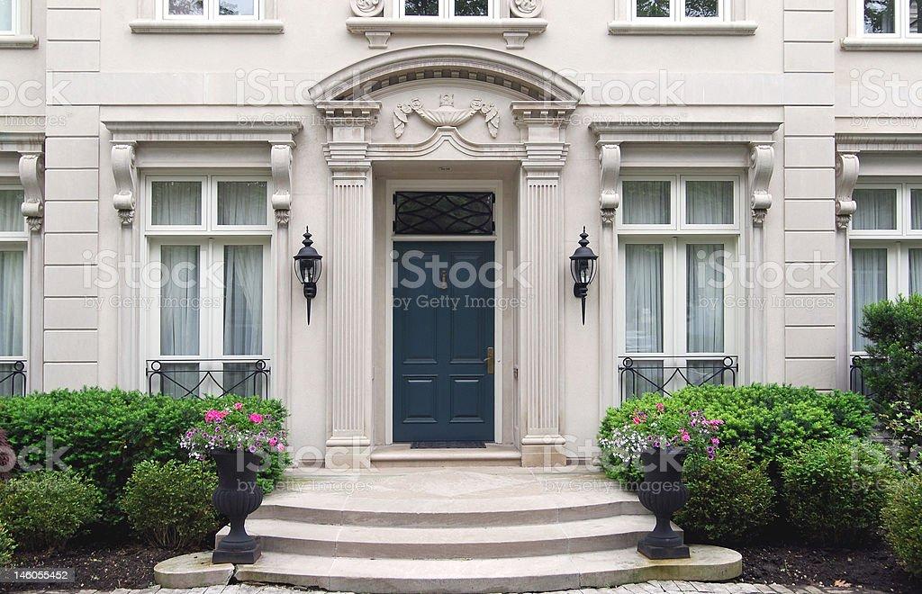 Elegant house entrance royalty-free stock photo