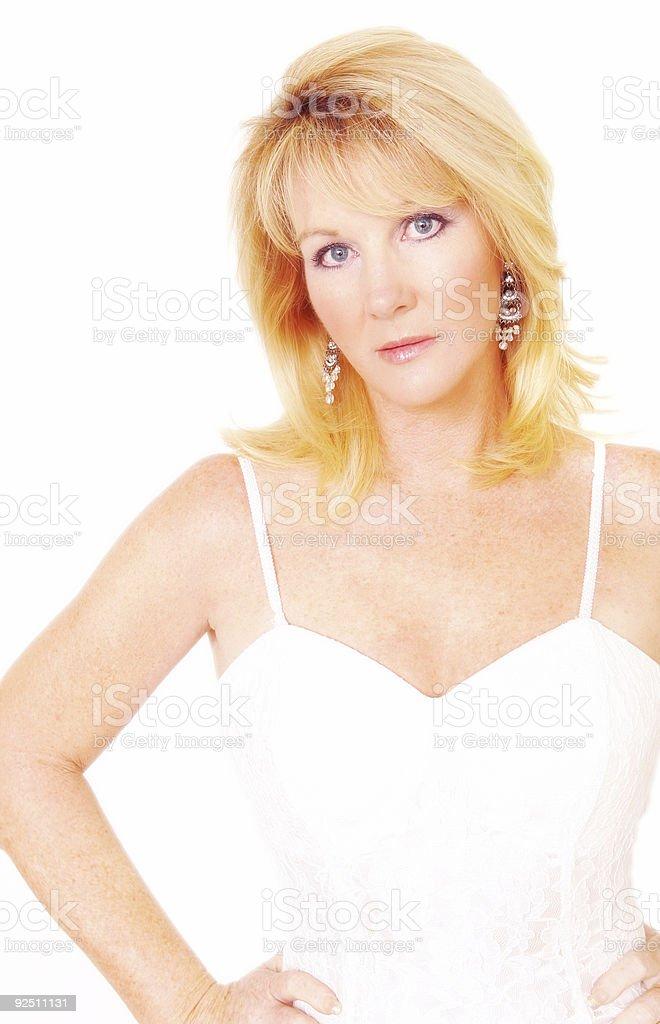 Elegant in White stock photo