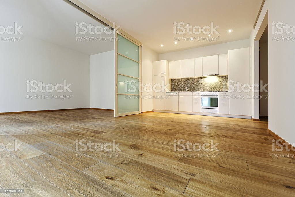 Elegant interior of an empty house royalty-free stock photo