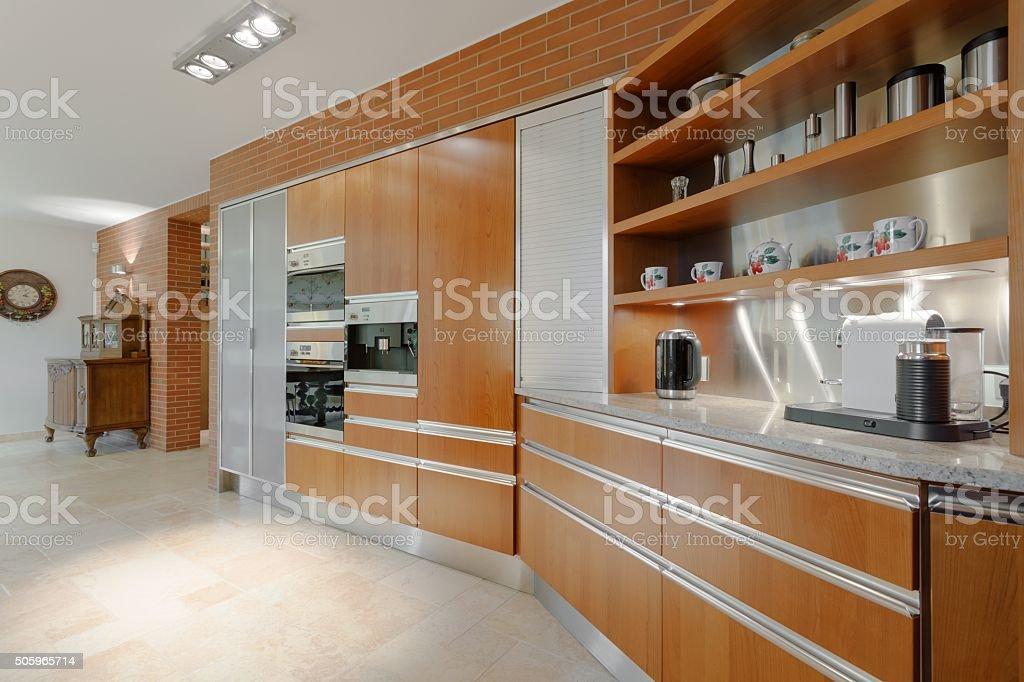 Elegant interior of fancy apartment stock photo
