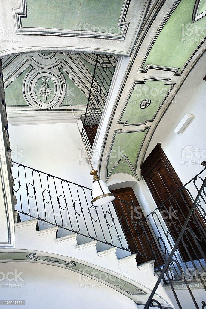 Elegant Italian building indoor royalty-free stock photo