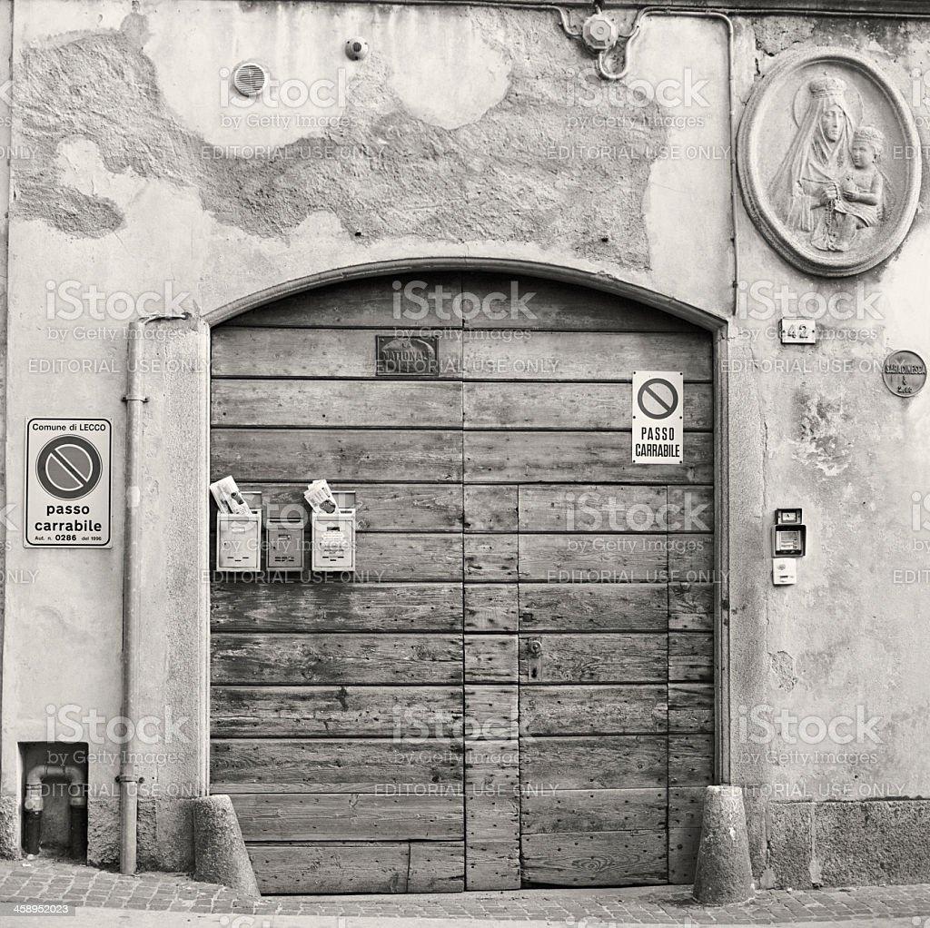 Elegant Italian mansion in Lecco stock photo