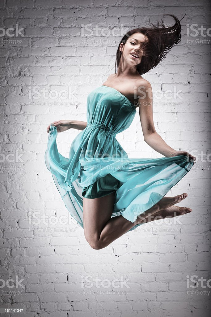 Elegant jump by a dancer royalty-free stock photo