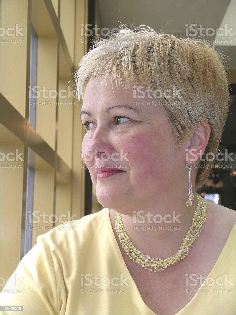 Elegant Lady in Yellow royalty-free stock photo