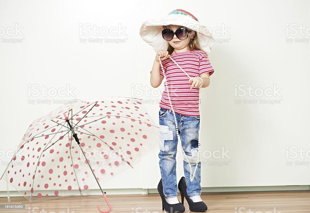 Elegant little girl royalty-free stock photo