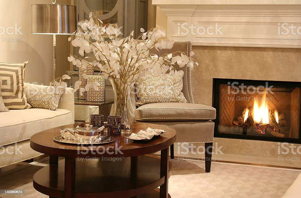 Elegant living room stock photo
