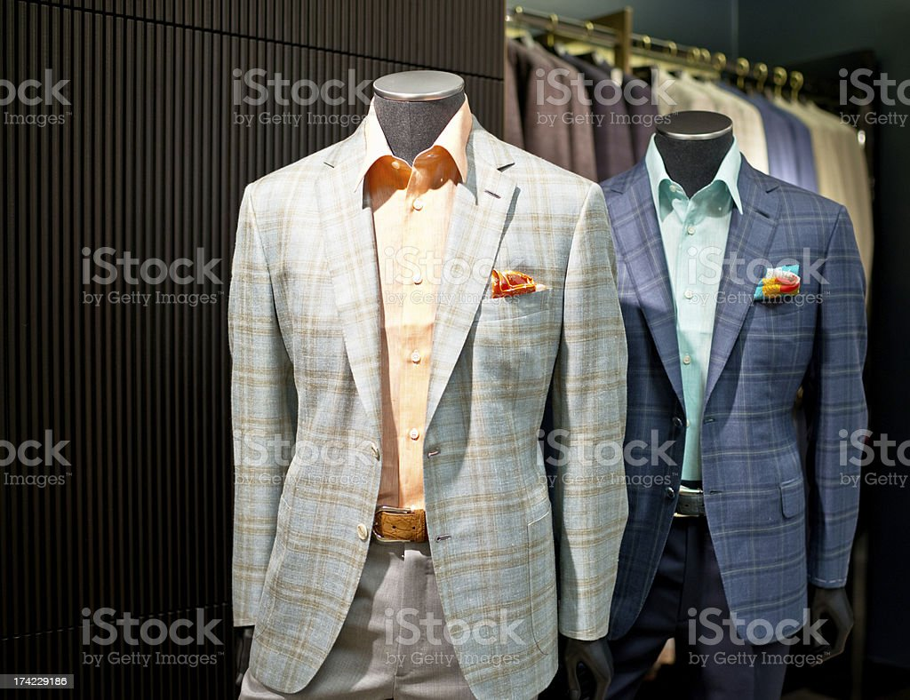 Elegant Male Mannequins in Clothing store royalty-free stock photo
