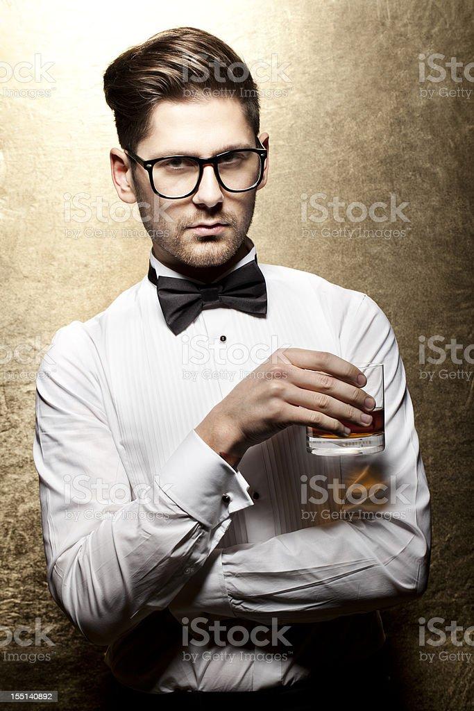 Elegant man at a party stock photo