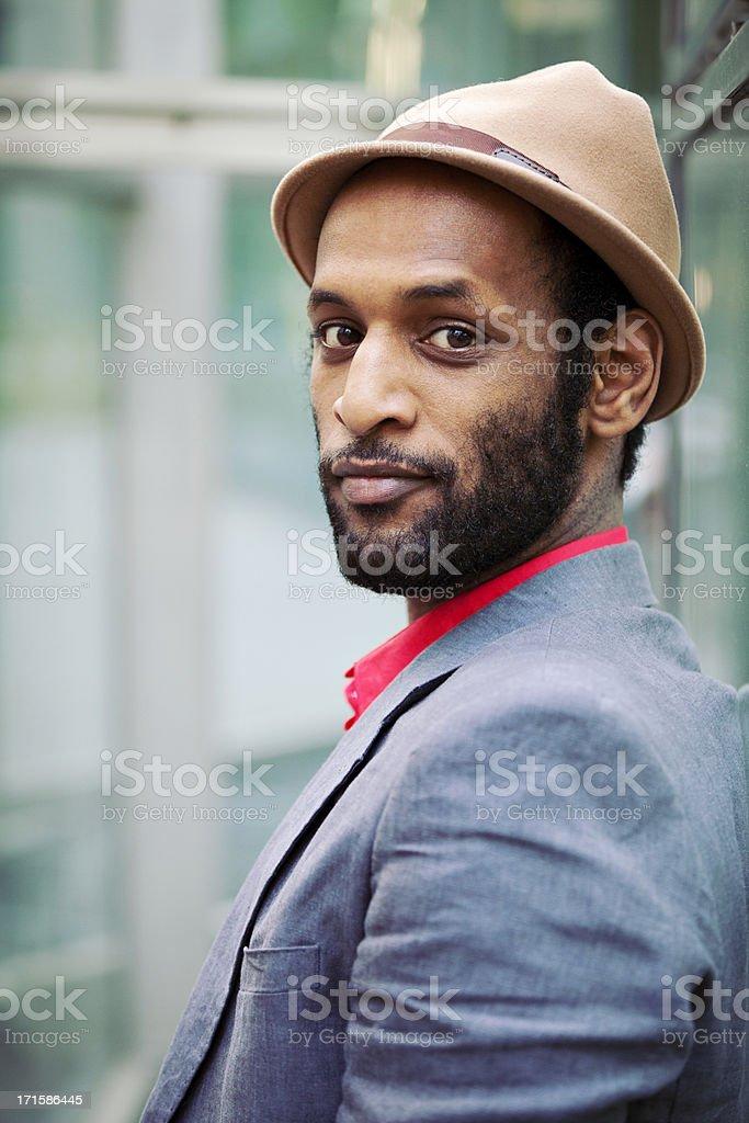 Elegant Man With Hat stock photo