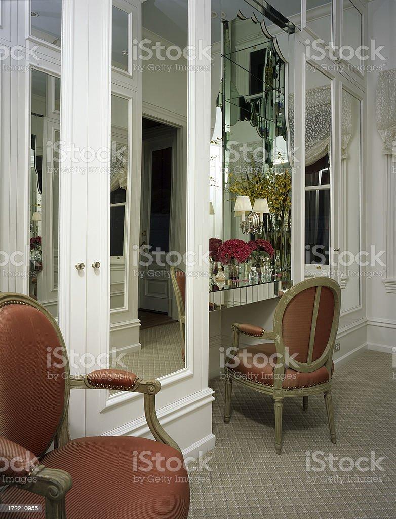 Elegant Mirror Vanity royalty-free stock photo