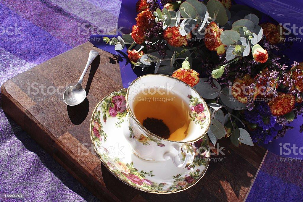 elegant morning tea stock photo