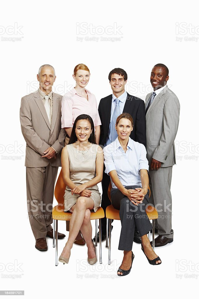 Elegant multi racial business team royalty-free stock photo