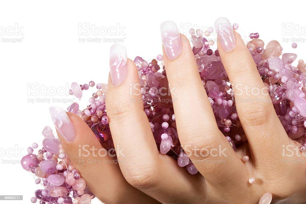 Elegant nail design royalty-free stock photo