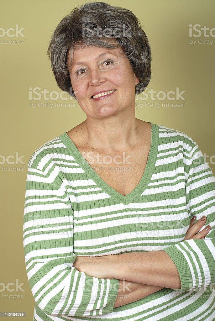 Elegant older woman royalty-free stock photo