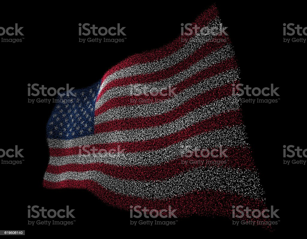 Elegant particle flag stock photo