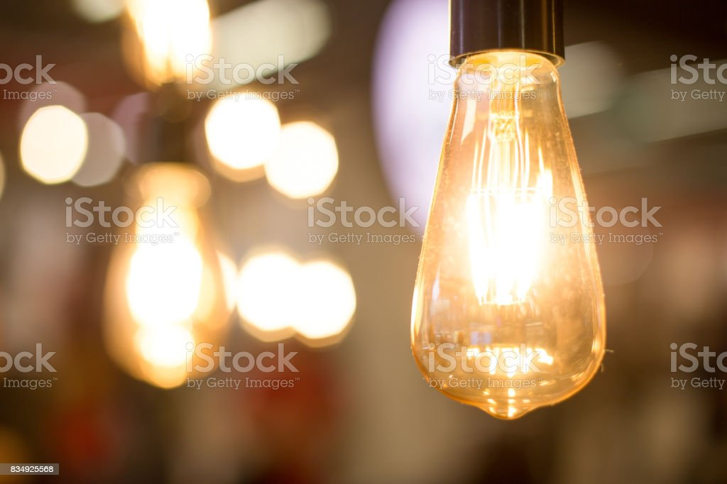 elegant pendant lights stock photo