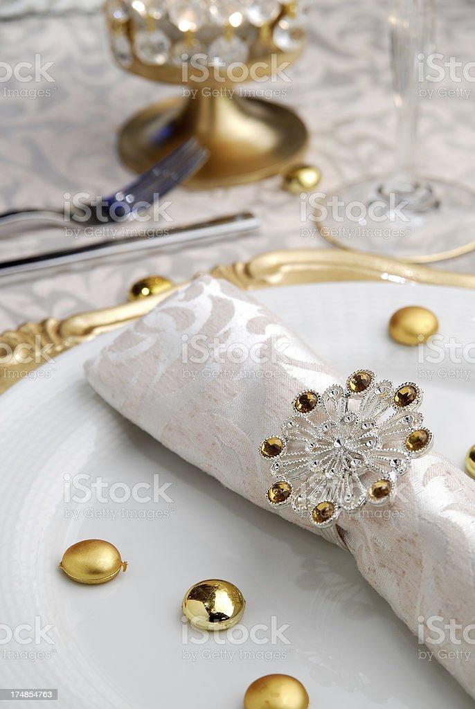 Elegant Place Setting royalty-free stock photo